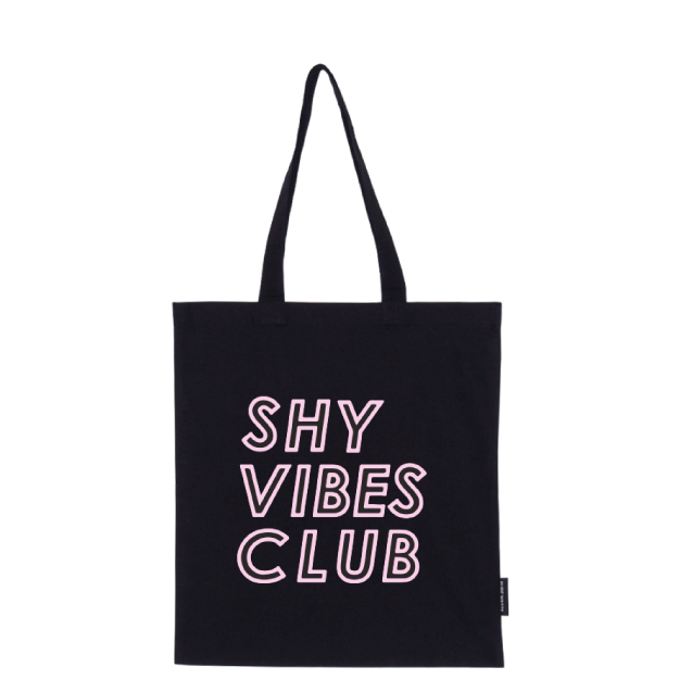 Shy Vibes Club tote bag |pink|