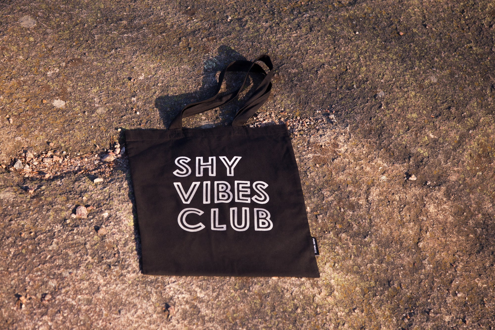 Shy Vibes Club pure waste textiles reflective tote bag