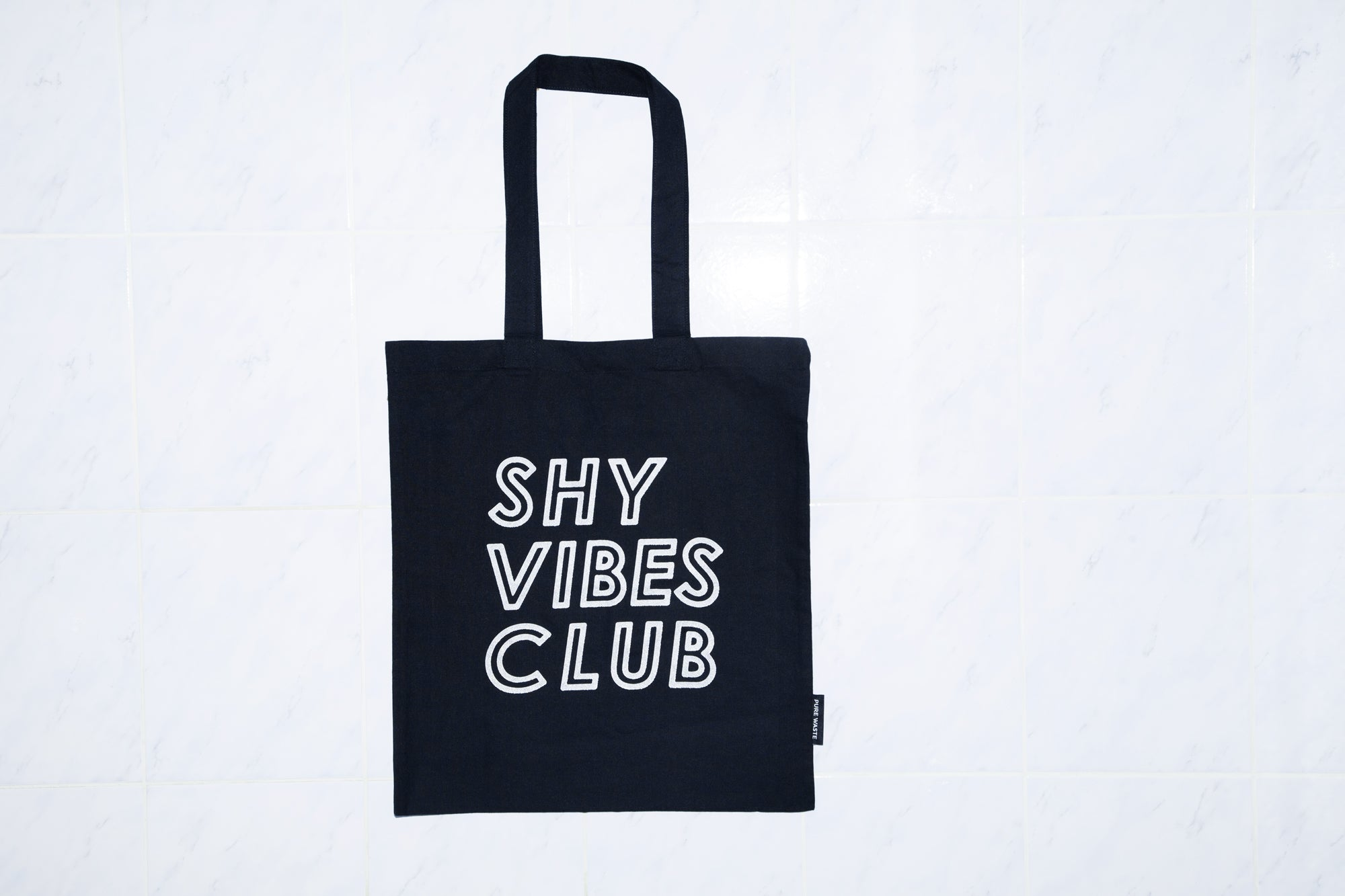 Shy Vibes Club recycled tote bag reflective