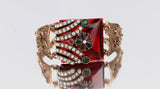 Image of Big Ruby Bracelet For Women Vintage Jewelry