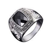 Image of High Quality White Gold Plated Zircon Mens Ring