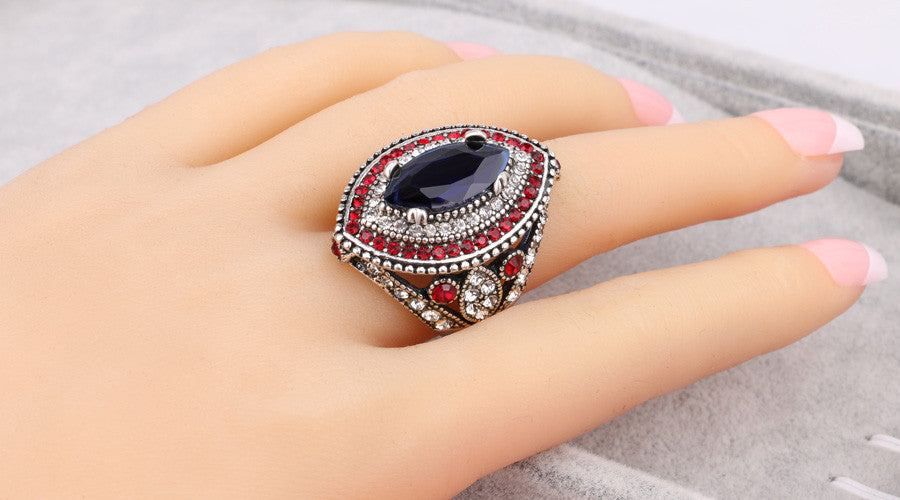 Big Sapphire Rings For Women Plating