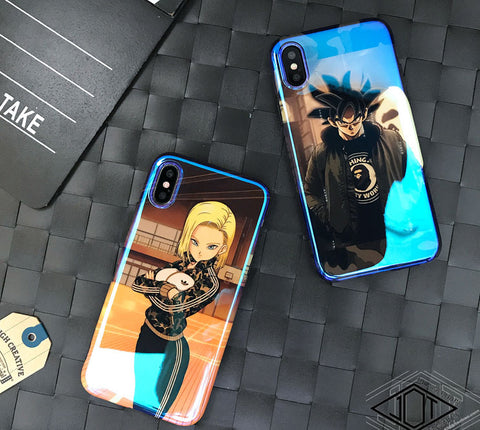Dragon Ball Z Bape Goku Android 18 iPhone Phone Case