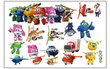 Super Wings Cartoon Wall Sticker Decals