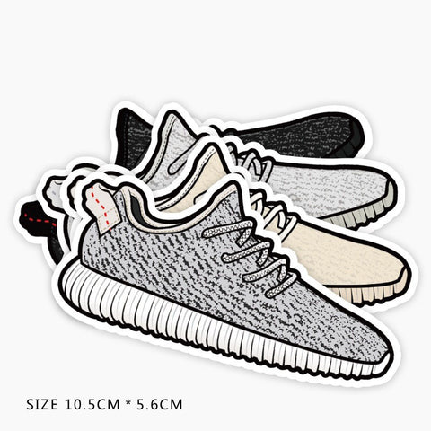 Adidas Yeezy 350 Boost Set of 4 Vinyl Sticker Decal