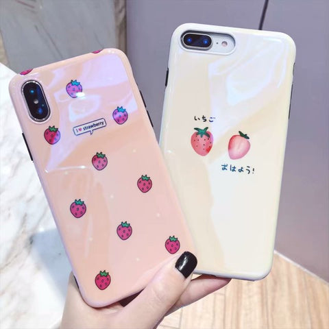 I Love Strawberry iPhone Phone Case