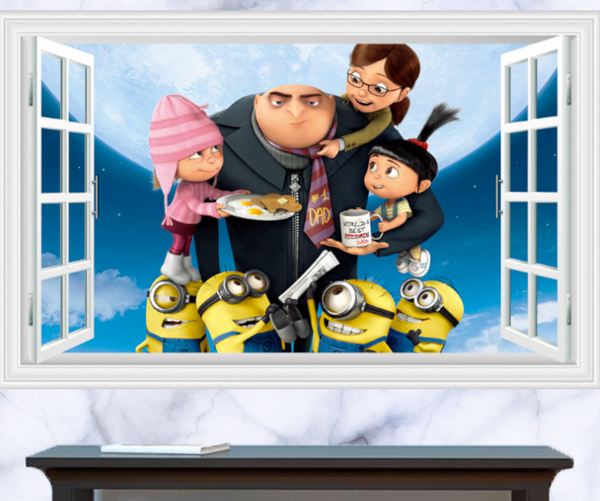 Despicable Me Minions Window 3D Wall Sticker Decal