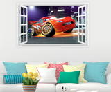 Lightning McQueen Cartoon Cars 3D Window Wall Sticker Decal
