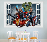 Marvel Heroes Window 3D Wall Sticker Decal