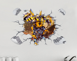 Transformer Bumble Bee Break The Wall 3D Wall Sticker Decal