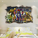 Transformer Break The Wall 3D Wall Sticker Decal