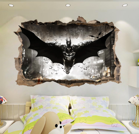 Batman Break The Wall 3D Wall Sticker Decal