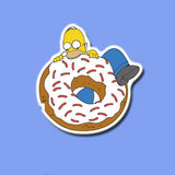 Homer Simpson Donut Vinyl Sticker Decal