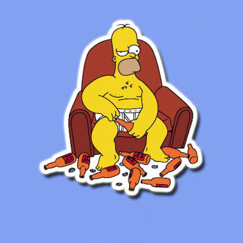 Funny Homer Simpson Naked Vinyl Sticker Decal