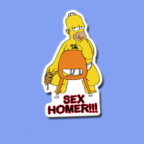 Homer Simpson Sex Vinyl Sticker Decal