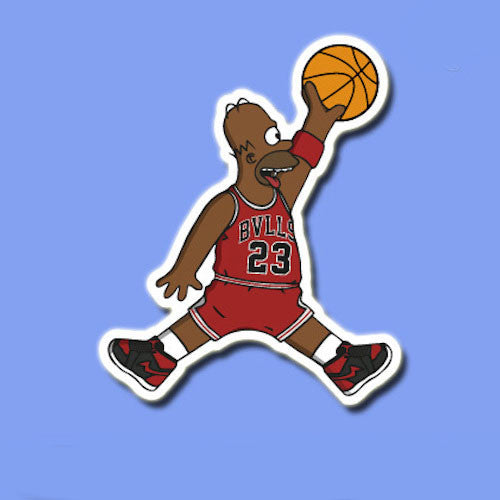 Homer Simpson Jordan Vinyl Sticker Decal