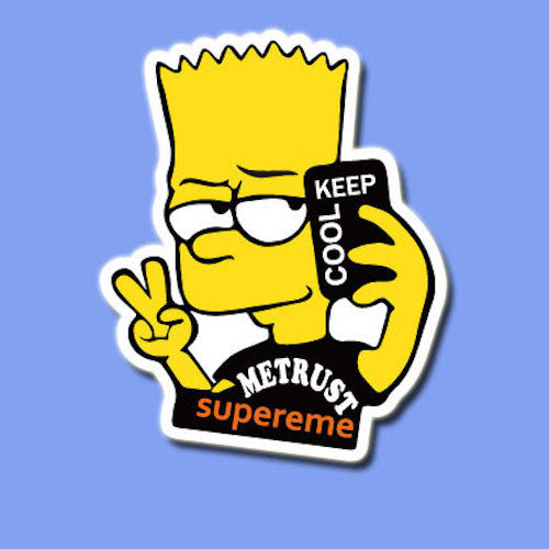 Supreme bart simpson vinyl sticker decal buy cool stickers