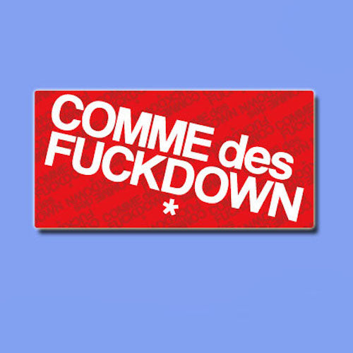 Comme des Fuckdown Vinyl Sticker Decal