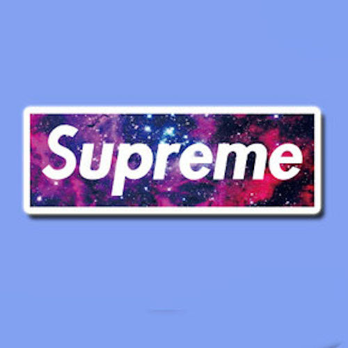 Supreme Space Logo Vinyl Sticker Decal