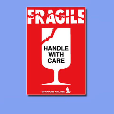 Fragile Handle With Care Vinyl Sticker Decal