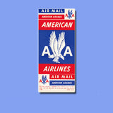 American Airline Air Mail Vinyl Sticker Decal