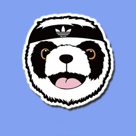 Adidas Panda Vinyl Sticker Decal