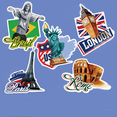 5 x Big Cities Travel Vinyl Sticker Pack
