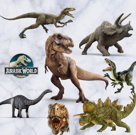 Jurassic World Dinosaur Window Wall Stickers Vinyl Decals