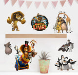 Madagascar Cartoon Window Wall Stickers Vinyl Decals