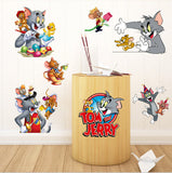 Tom & Jerry Cartoon Window Wall Stickers Vinyl Decals