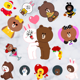 Line Friends Brown Cony Sally Cartoon Window Wall Stickers Decals