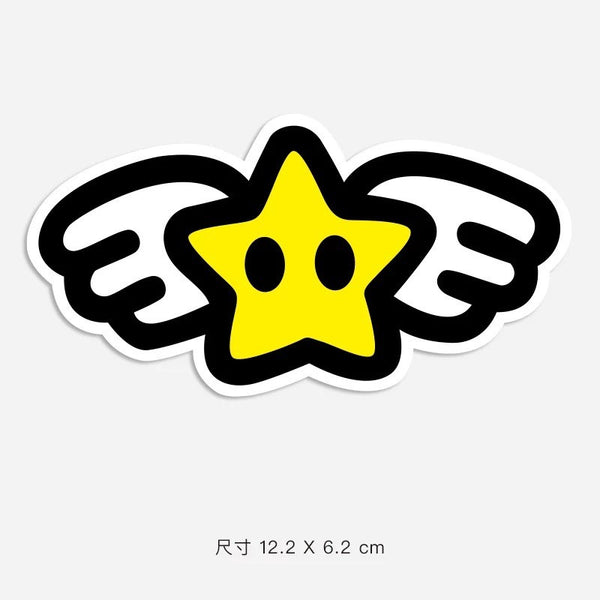 Star Angel Vinyl Sticker Decal