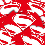 Batman Superman Logo Vinyl Sticker Decal