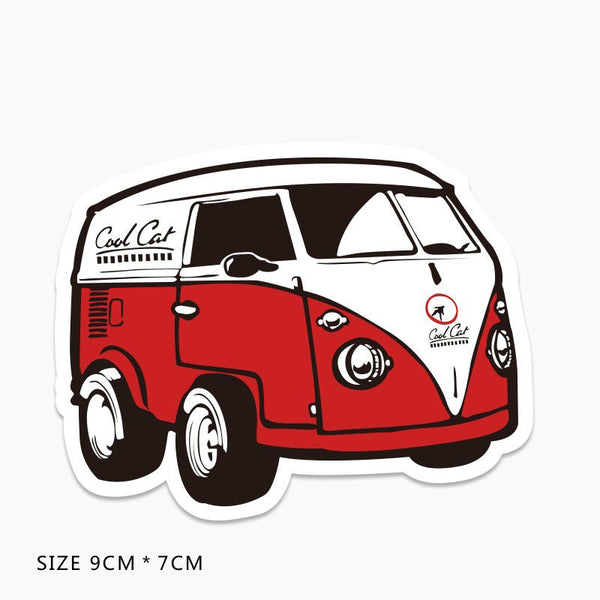 Volkswagen T1 Microbus Vinyl Sticker Decal