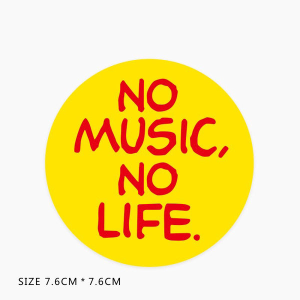 No Music No Life Vinyl Sticker Decal