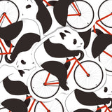 Panda Cycling Vinyl Sticker Decal