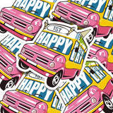 Happy Birthday Truck Vinyl Sticker Decal