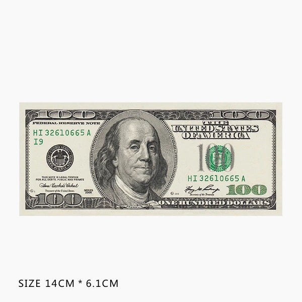 Hundred Dollar Bill Vinyl Sticker Decal