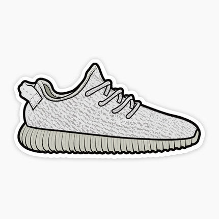 Adidas Yeezy Boost 350 Grey Vinyl Sticker Decal