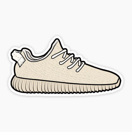 Adidas Yeezy Boost 350 Tan Vinyl Sticker Decal