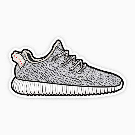 Adidas Yeezy Boost 350 Dark Grey Vinyl Sticker Decal