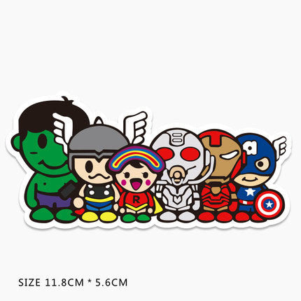 Superheroes Cartoon Vinyl Sticker Decal