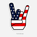 American Rock Sign Vinyl Sticker Decal