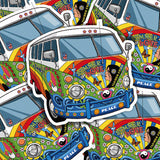 Summer Of Love Van Vinyl Sticker Decal