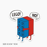 Funny Lego Vinyl Sticker Decal