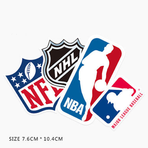 NFL NHL NBA MLB Vinyl Sticker Decals