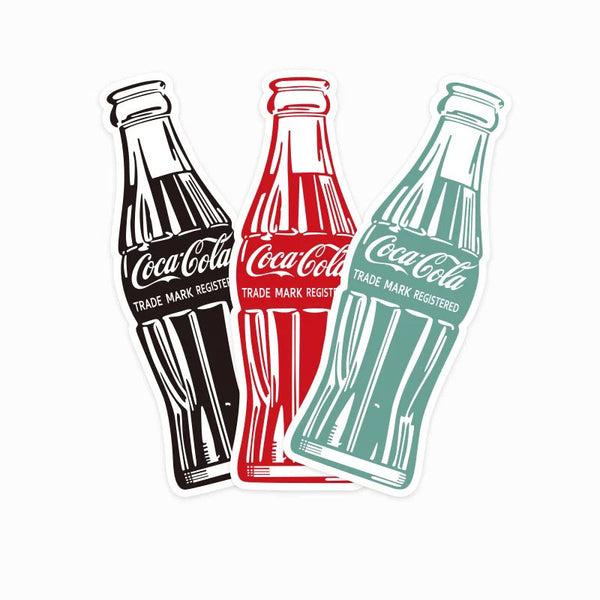 Coca Cola Bottles Vinyl Sticker Decal x 3