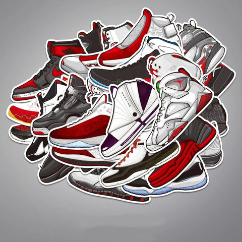 30 x Air Jordan Sneakers Vinyl Sticker Pack