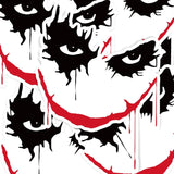Joker Face Vinyl Sticker Decal