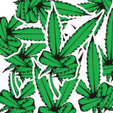 Weed Peace Sign Vinyl Sticker Decal
